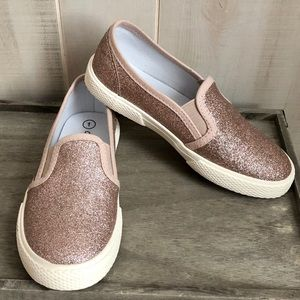 Cat & Jack Rose Gold Orli Sneakers 1